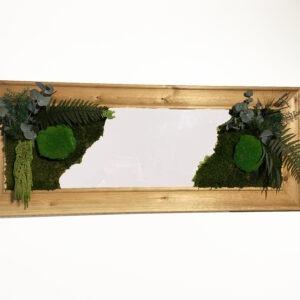 Preserved plants on mirror