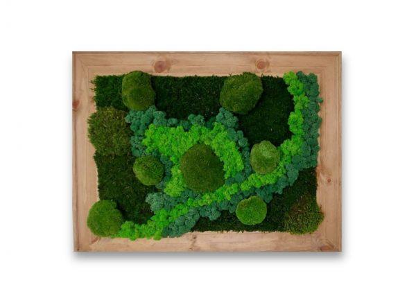 Green planet wall art